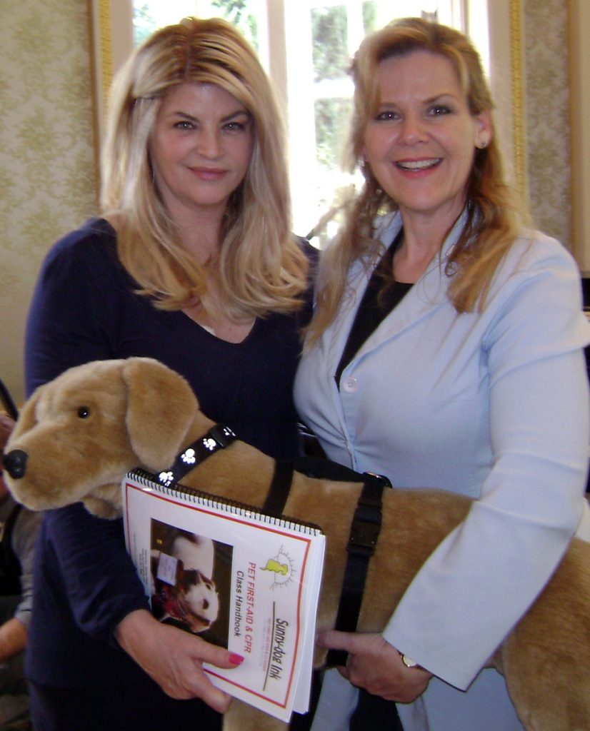 Denise Fleck with Kirstie Alley