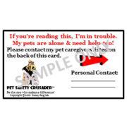 Pet PAWparedness SDI Emergency Card