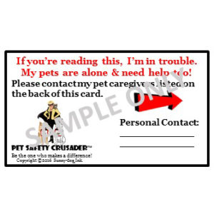 Pet PAWparedness SDI Emergency Card