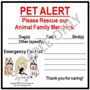 Pet PAWparedness SDI Pet Alert Sticker